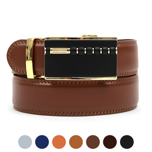 Men Sliding Buckle Belt - orangeshine.com