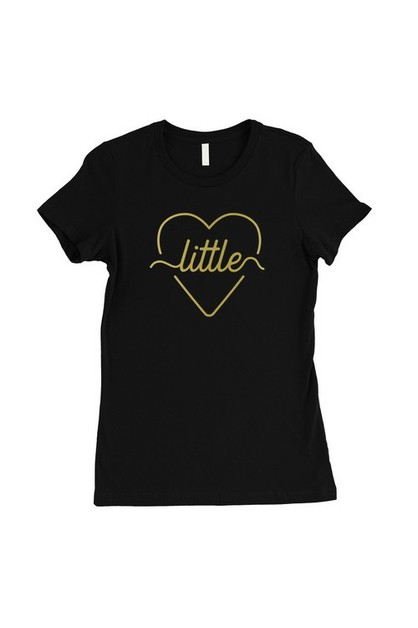 Little Line Heart-Gold T-Shirt - orangeshine.com