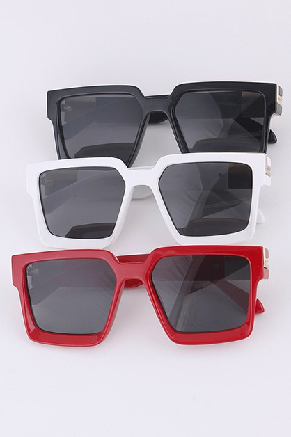 Square Frame Iconic Sunglasses Set - orangeshine.com