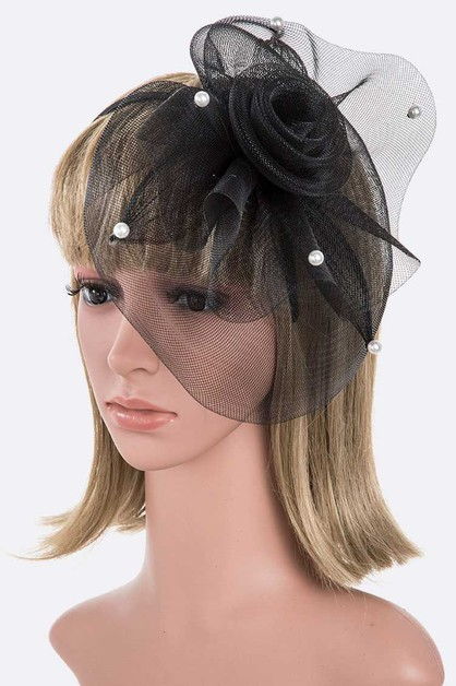 Pearl Accent Convertible Fascinator - orangeshine.com