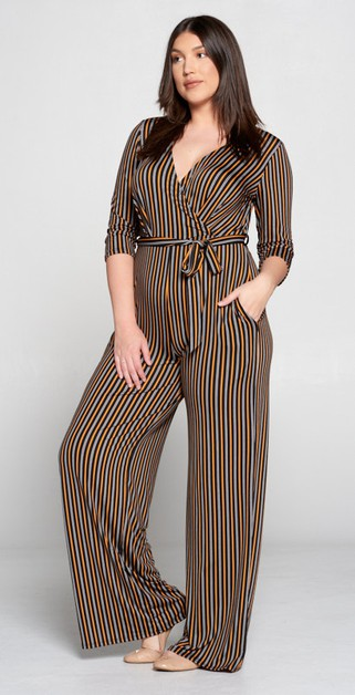 NEW STRIPE KNIT JUMPSUIT - orangeshine.com