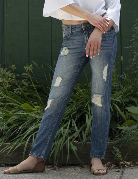 Boyfriend Denim Pants - orangeshine.com