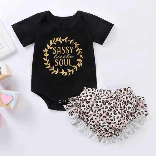 Baby girl leopard 2pc outfit set - orangeshine.com