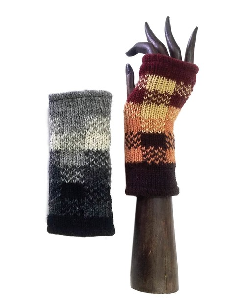 Color-Block Knit Hand-Warmers - orangeshine.com