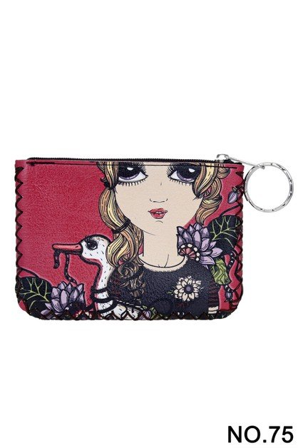 Lovely Girl Printed Coin Purse  - orangeshine.com