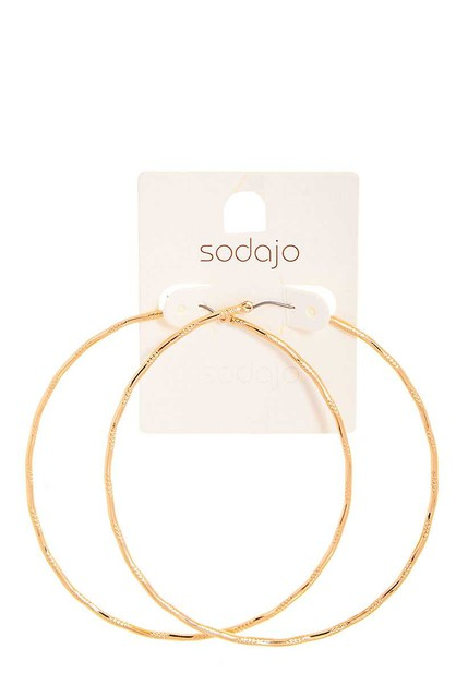 SODAJO STYLISH 3 INCH HOOP EARRING - orangeshine.com