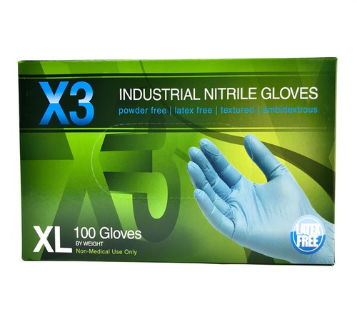 Nitrile Rubber Disposable Gloves-XL - orangeshine.com