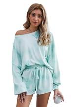Tie-dye Pajamas Loungewear Set - orangeshine.com