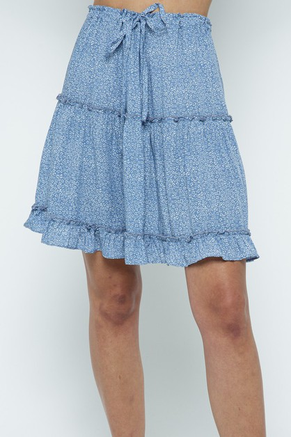 LIGHT BLUE COLOR SKIRT  - orangeshine.com