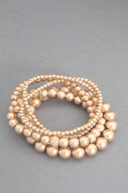 5PCS SET BALL STRETCH BRACELET - orangeshine.com