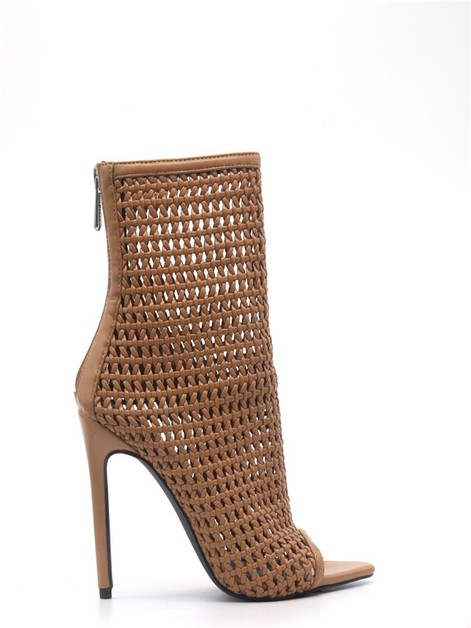 High heel sandals Stiletto peep toe - orangeshine.com