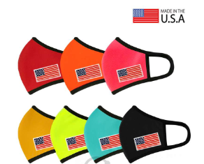 USA Flag Patched 3D Reusable Mask - orangeshine.com