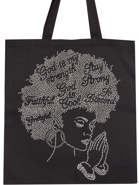 God is My Strength Tote - orangeshine.com