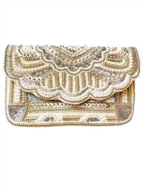 Vintage  Pearl Beaded Clutch - orangeshine.com