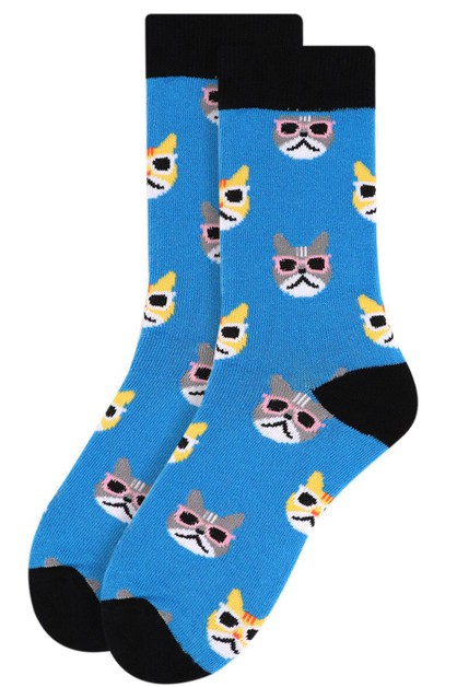 Ladies Cool Cats Novelty Socks - orangeshine.com