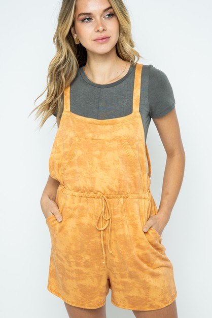 TIE DYE OVERALL FRENCH TERRY CINCHED - orangeshine.com