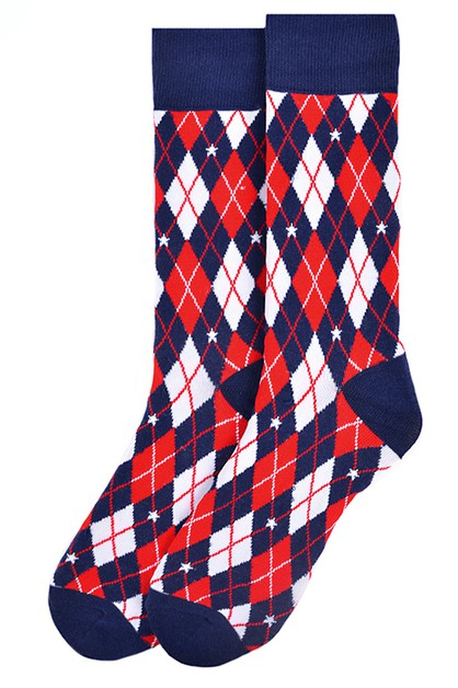 Men Argyle USA Novelty Socks  - orangeshine.com