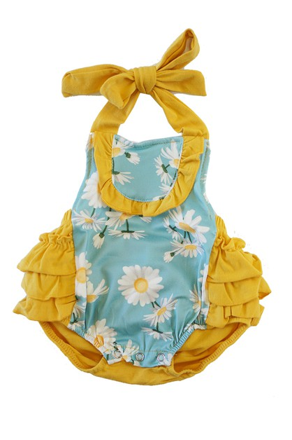 Daisy mint baby bubble romper - orangeshine.com