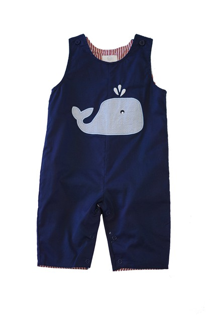 Reversible whale car applique boy - orangeshine.com