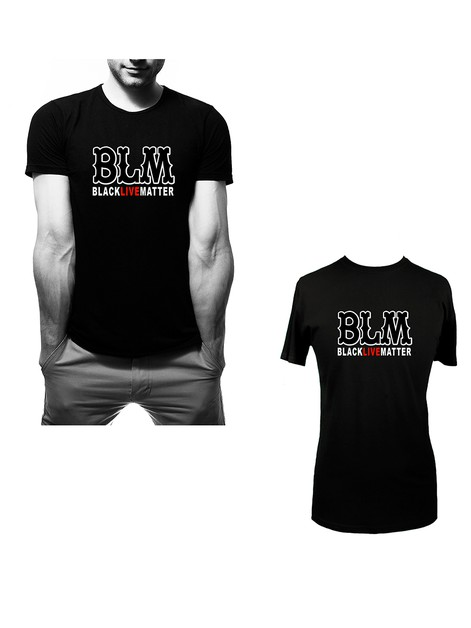 BLACK LIVES MATTER graphic T shirt  - orangeshine.com