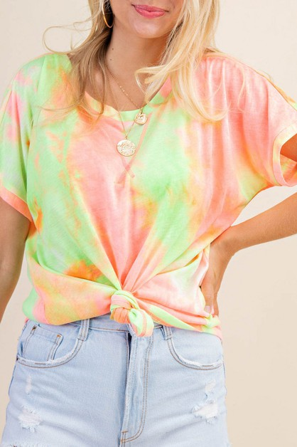 MULTI COLOR TIE DYE T-SHIRTS - orangeshine.com