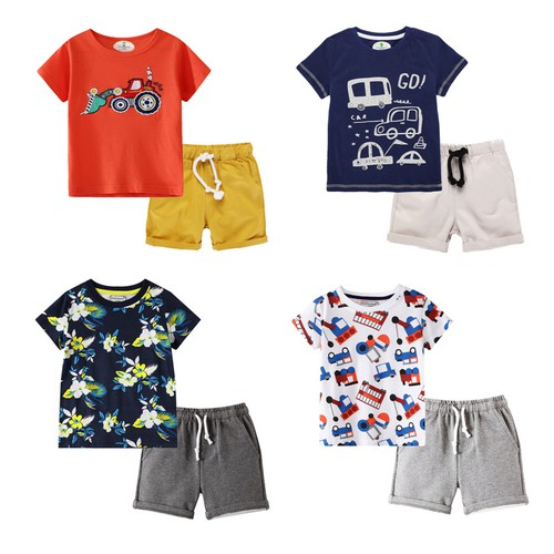 Boys 2 pc T shirt Shorts set - orangeshine.com