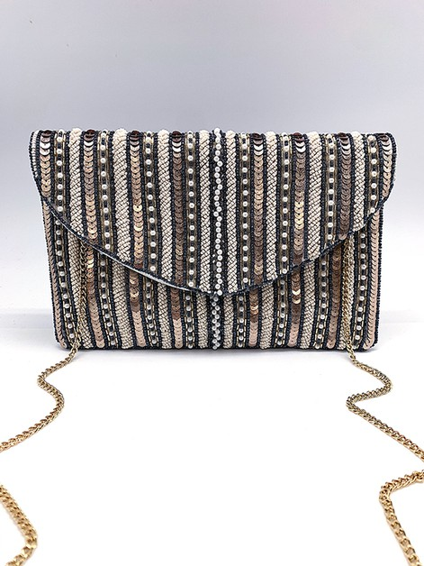 Party Partner Beaded Clutch Bag - orangeshine.com