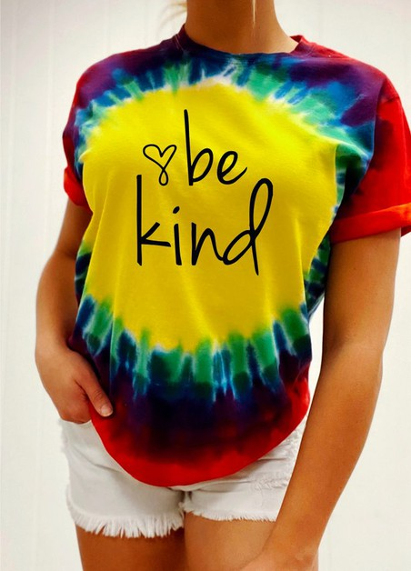 Be Kind Tie Dye Tee - orangeshine.com