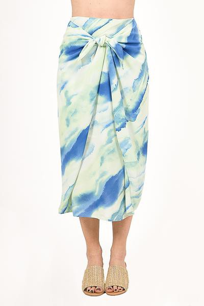 A MERMAID TIE DYE MIDI SKIRT  - orangeshine.com