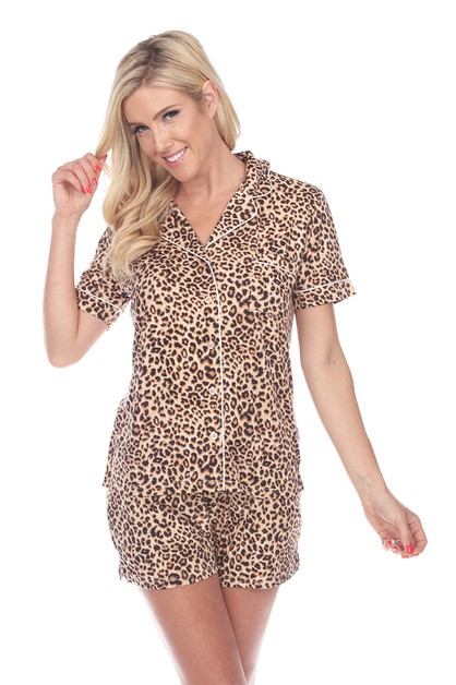 Short Sleeve Pajama Set - orangeshine.com