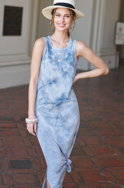 Cloudy Tie-Dye Long Dress - orangeshine.com