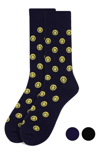 Mens Smiley Face Novelty Socks - orangeshine.com
