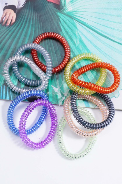 Thin Spiral Hair Ties  - orangeshine.com