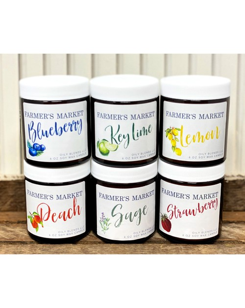Farmers Market Candles - 12 Pack - orangeshine.com