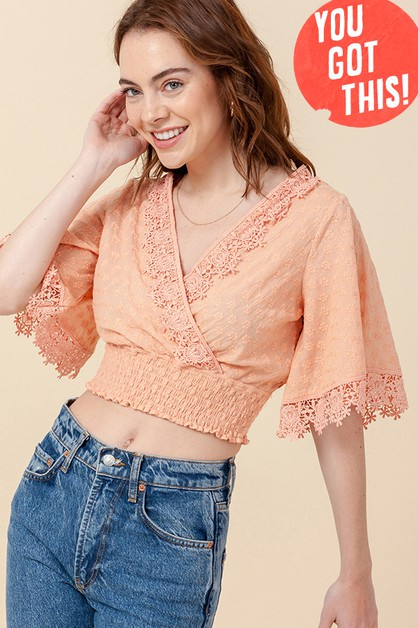 EYELET CROP TOP - orangeshine.com