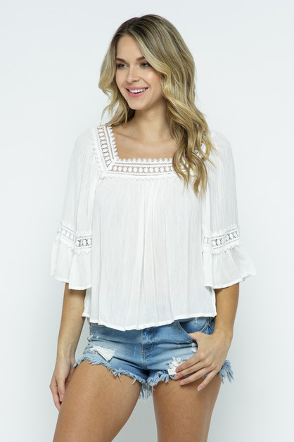 Solid Relaxed Top - orangeshine.com