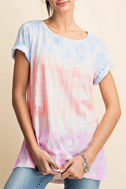 MULTI COLOR CLOUD TIE DYE T-SHIRTS - orangeshine.com