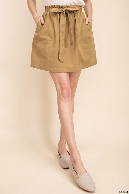BELTED WITH POCKET SKIRT - orangeshine.com
