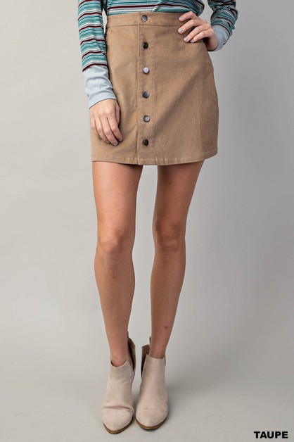 FRONT BUTTON DOWN CORDUROY SKIRT - orangeshine.com