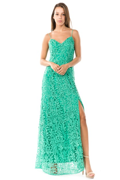 sleeveless crochet lace maxi dress - orangeshine.com