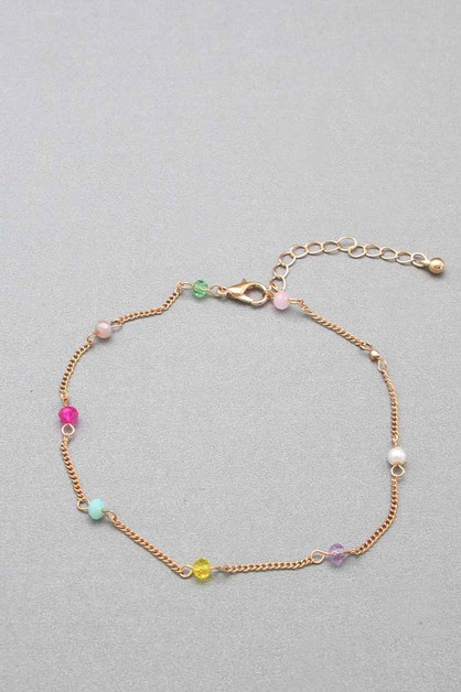 GLASS  BEADS  CHAIN ANKLET - orangeshine.com