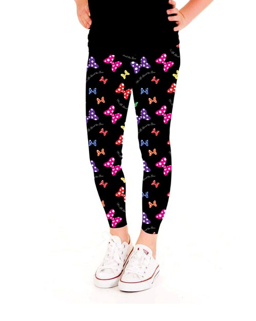 Polka Dot Bow Leggings - Girls - orangeshine.com