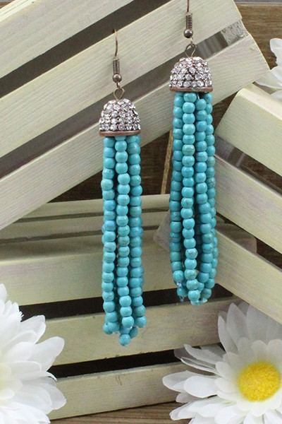 Crystal Tassel Earrings - orangeshine.com