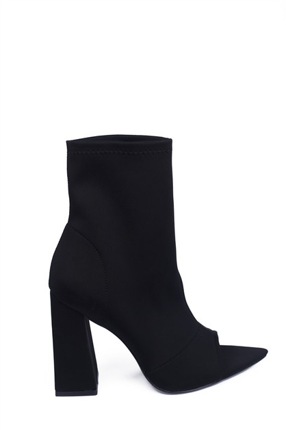 Chunky High heel booties - orangeshine.com