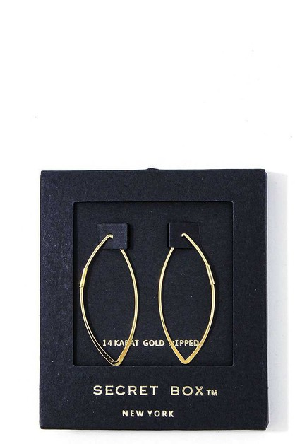 HOT TRENDY BENT HOOP EARRING - orangeshine.com
