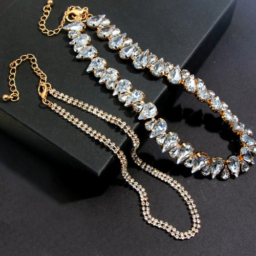 Luxury Crystal Choker Necklace - orangeshine.com
