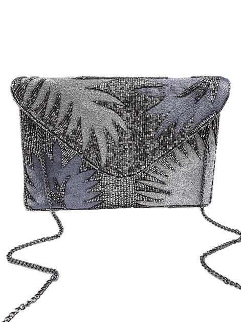 Embroidered Beaded Clutch Bag - orangeshine.com
