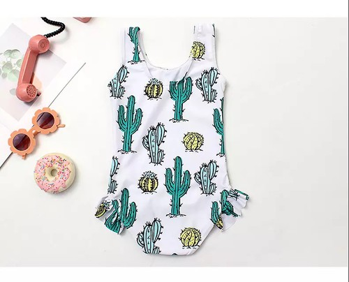 Girls Cactus swimsuit - orangeshine.com