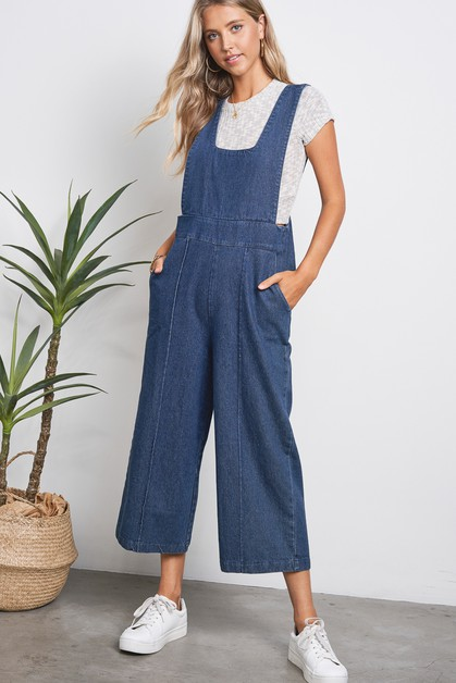 Denim Overall Jumpsuit - orangeshine.com