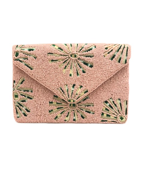 Floral Pattern Envelope Clutch Bag - orangeshine.com